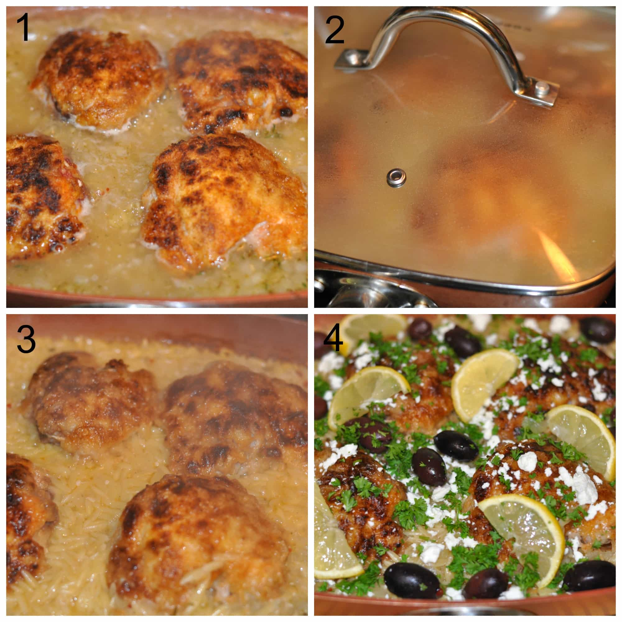 One Pan Greek Chicken And Orzo / The Grateful Girl Cooks!