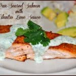 Pan-Seared Salmon with Cilantro Lime Sauce