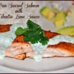 Pan-Seared Salmon with Cilantro Lime Sauce