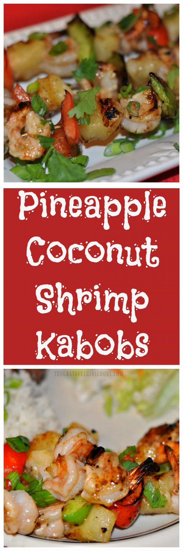 Long pin for Pineapple Coconut Shrimp Kabobs