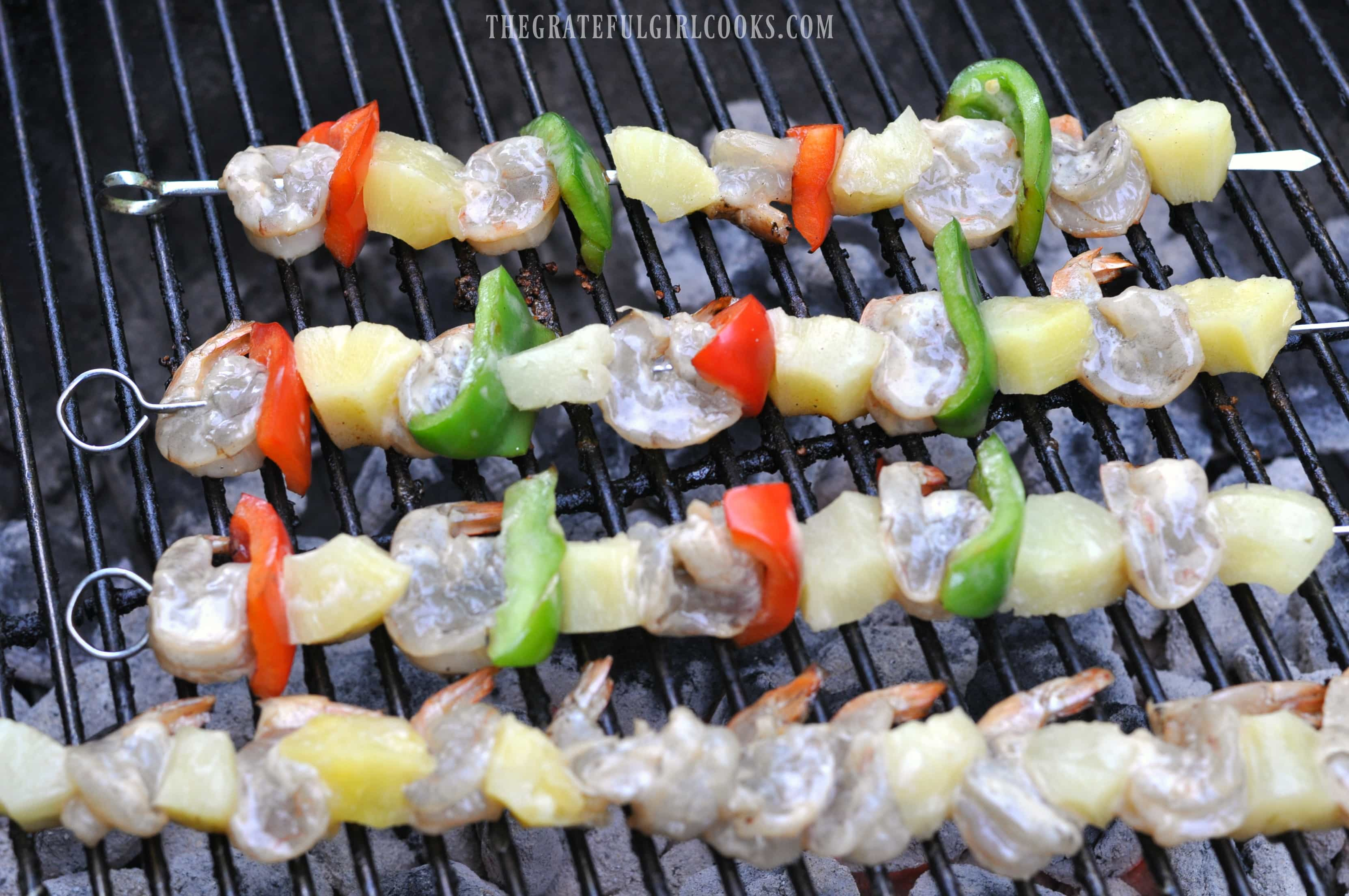 Pineapple Coconut Shrimp Kabobs / The Grateful Girl Cooks!