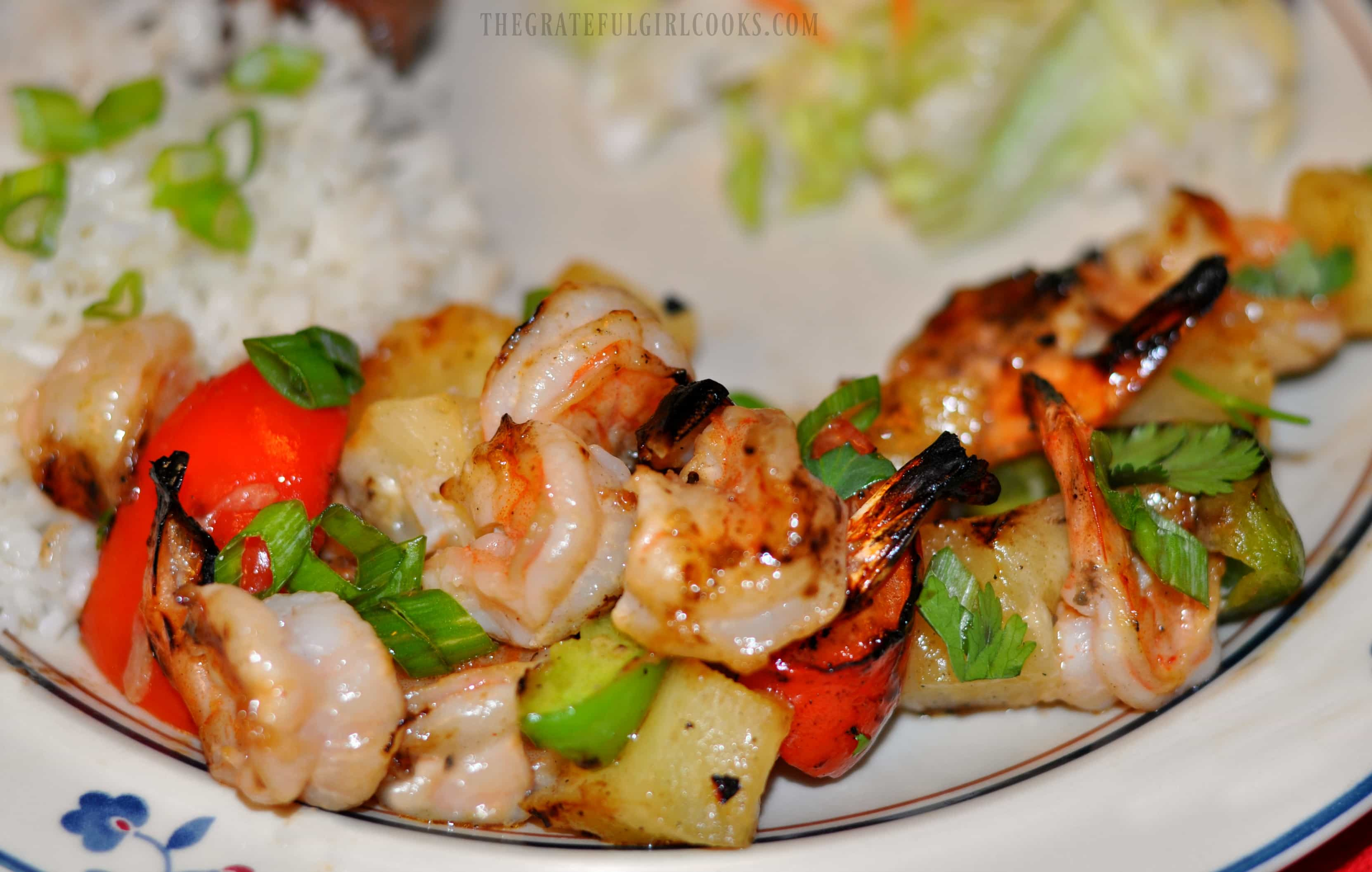 Pineapple Coconut Shrimp Kabobs / The Grateful Girl Cooks!