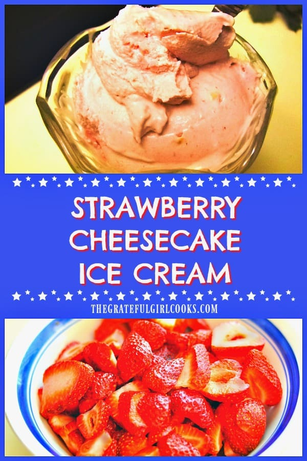 It's easy to make delicious, fresh homemade strawberry cheesecake ice cream, with an ice cream maker and only a few common ingredients!