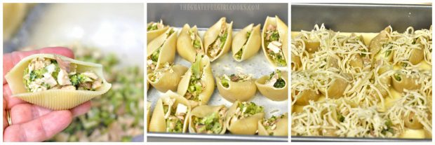 Chicken and Broccoli Alfredo Stuffed Shells / The Grateful Girl Cooks!