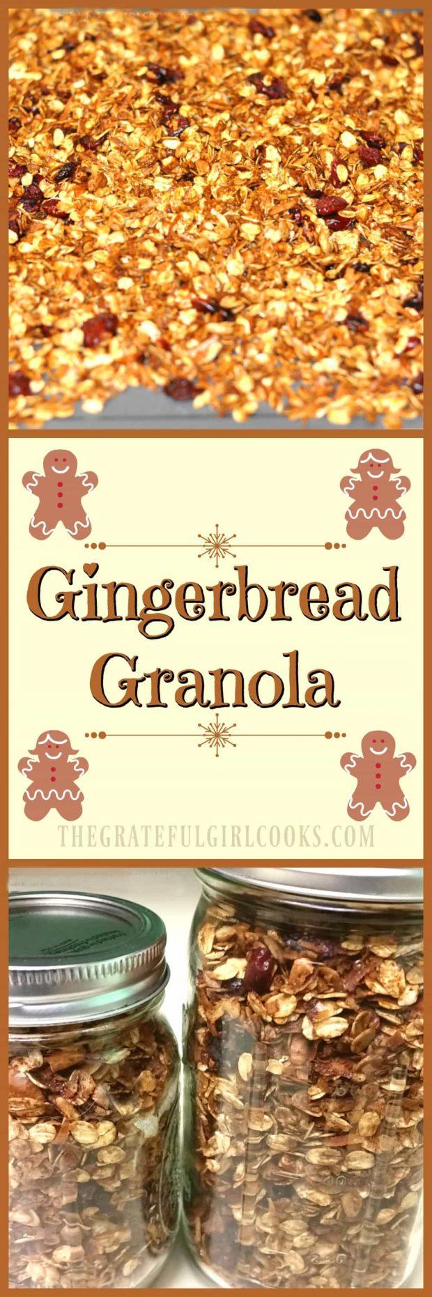 Gingerbread Granola / The Grateful Girl Cooks!
