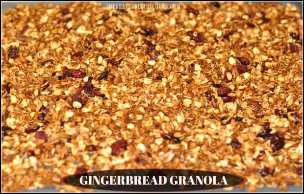 I recently whipped up a batch of Gingerbread Granola ( in about 30 minutes!), and have really enjoyed having it around our house for a quick breakfast cereal or snack.