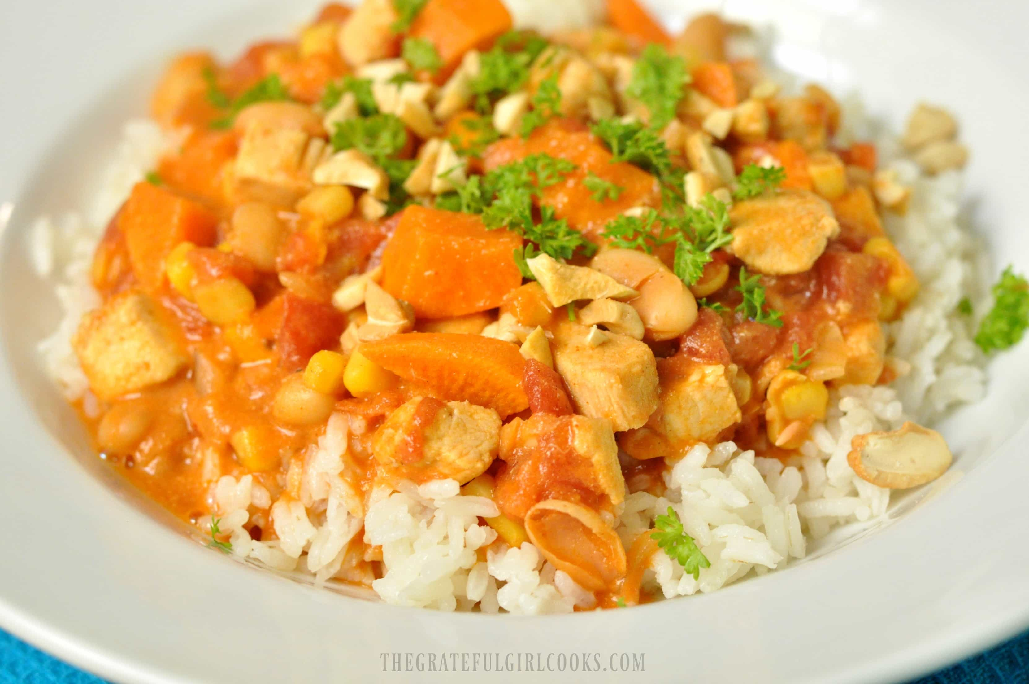 West African Chicken and Peanut Stew / The Grateful Girl Cooks!