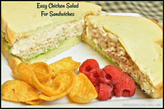 This easy and delicious copycat version of a famous East Coast chicken salad is convenient to have in the refrigerator for a quick sandwich for lunch or dinner!
