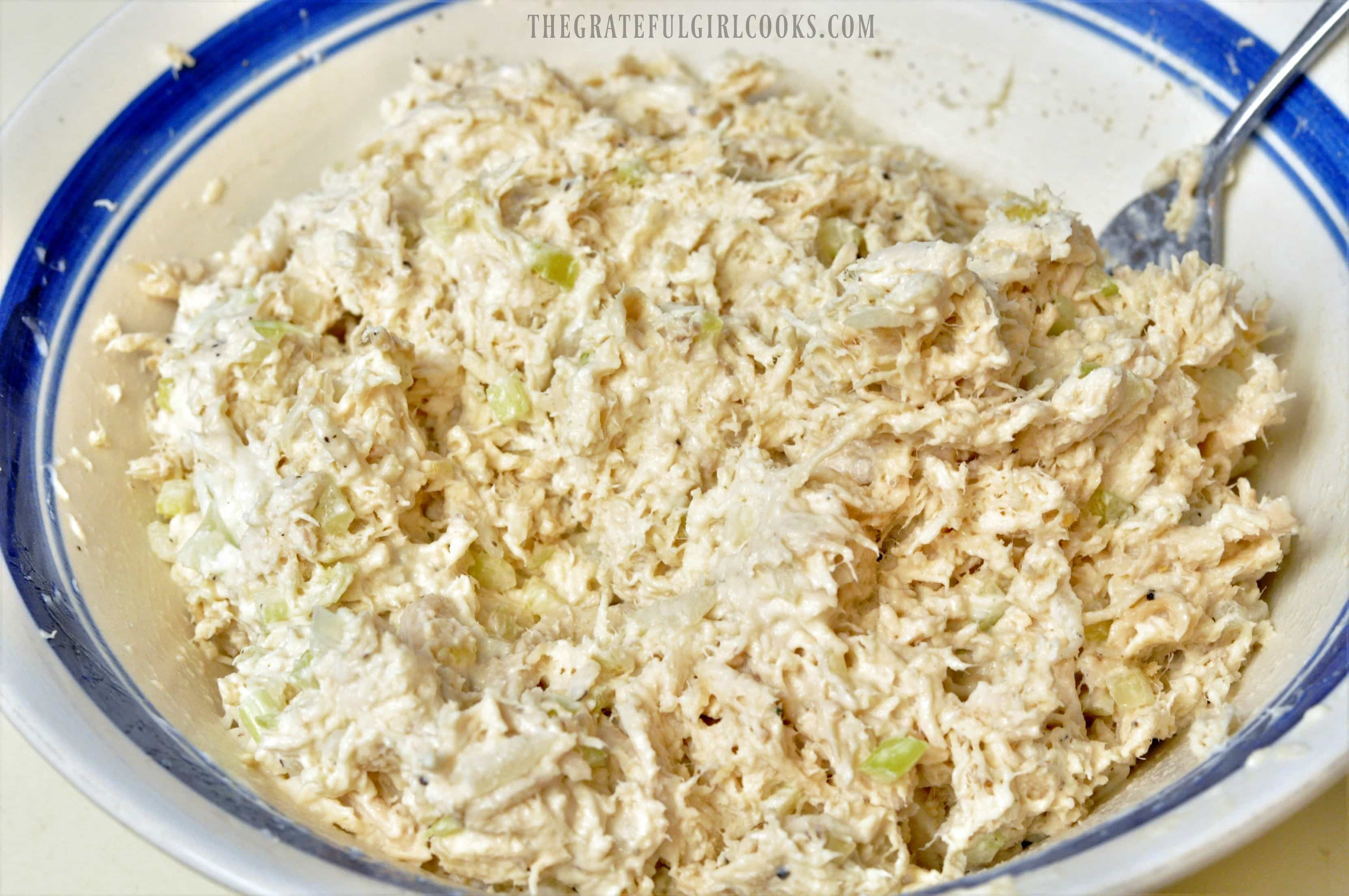Easy Chicken Salad For Sandwiches / The Grateful Girl Cooks!