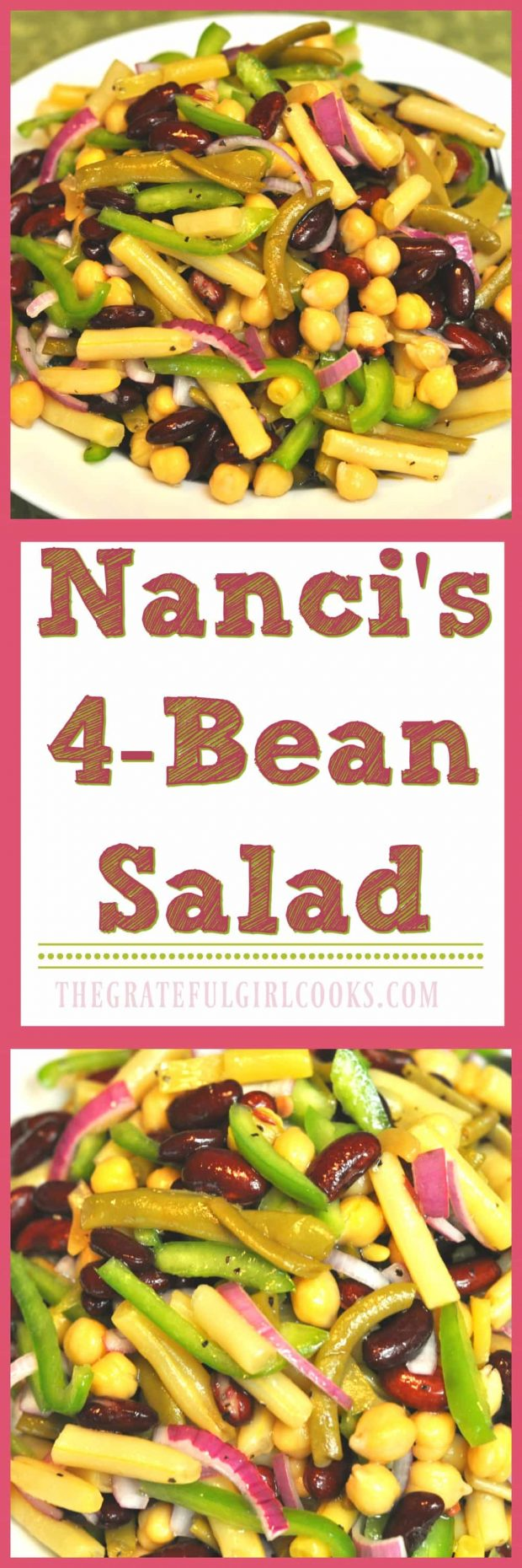 Long pin for Nanci's 4-Bean Salad