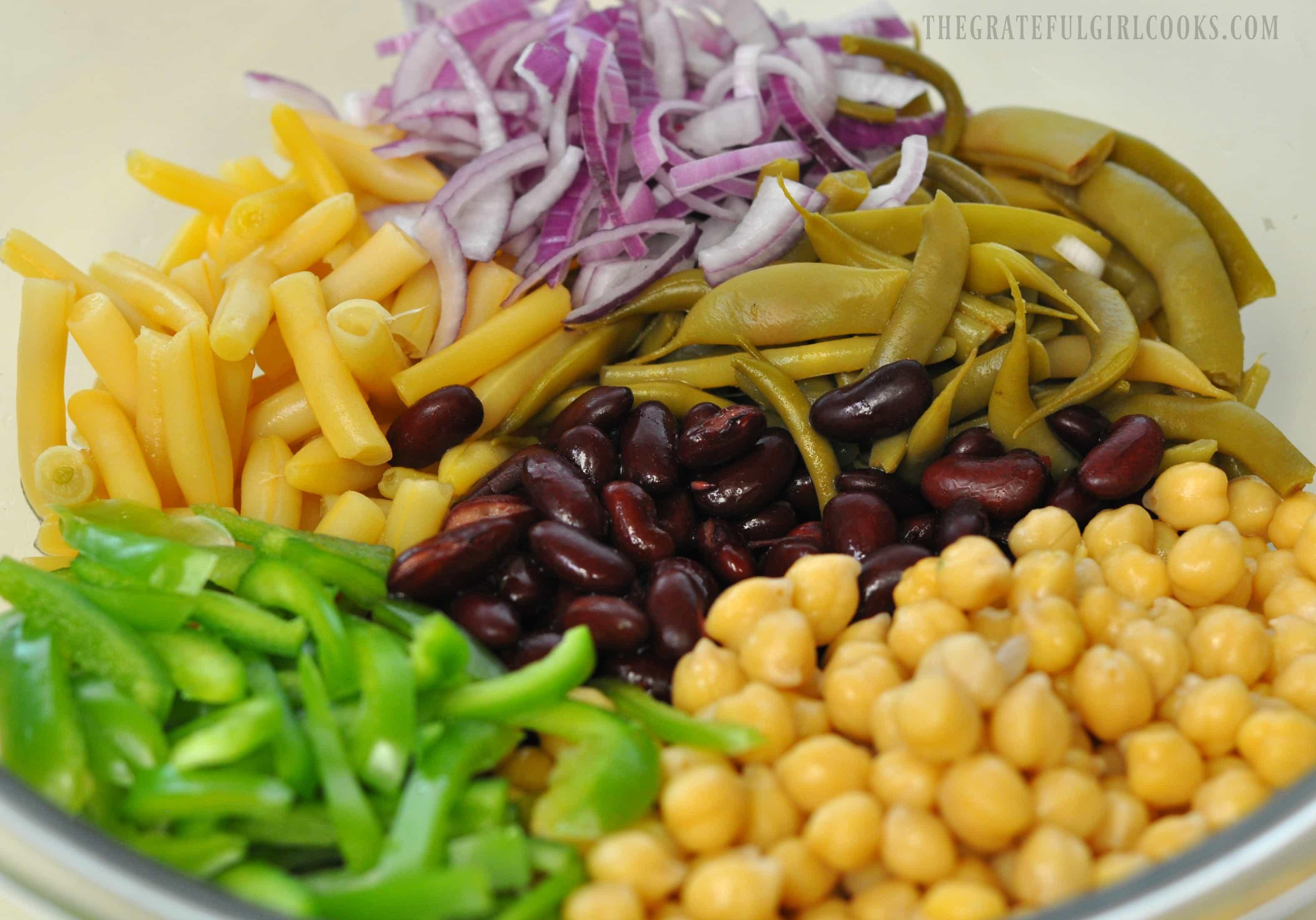 Nanci's 4-Bean Salad / The Grateful Girl Cooks!