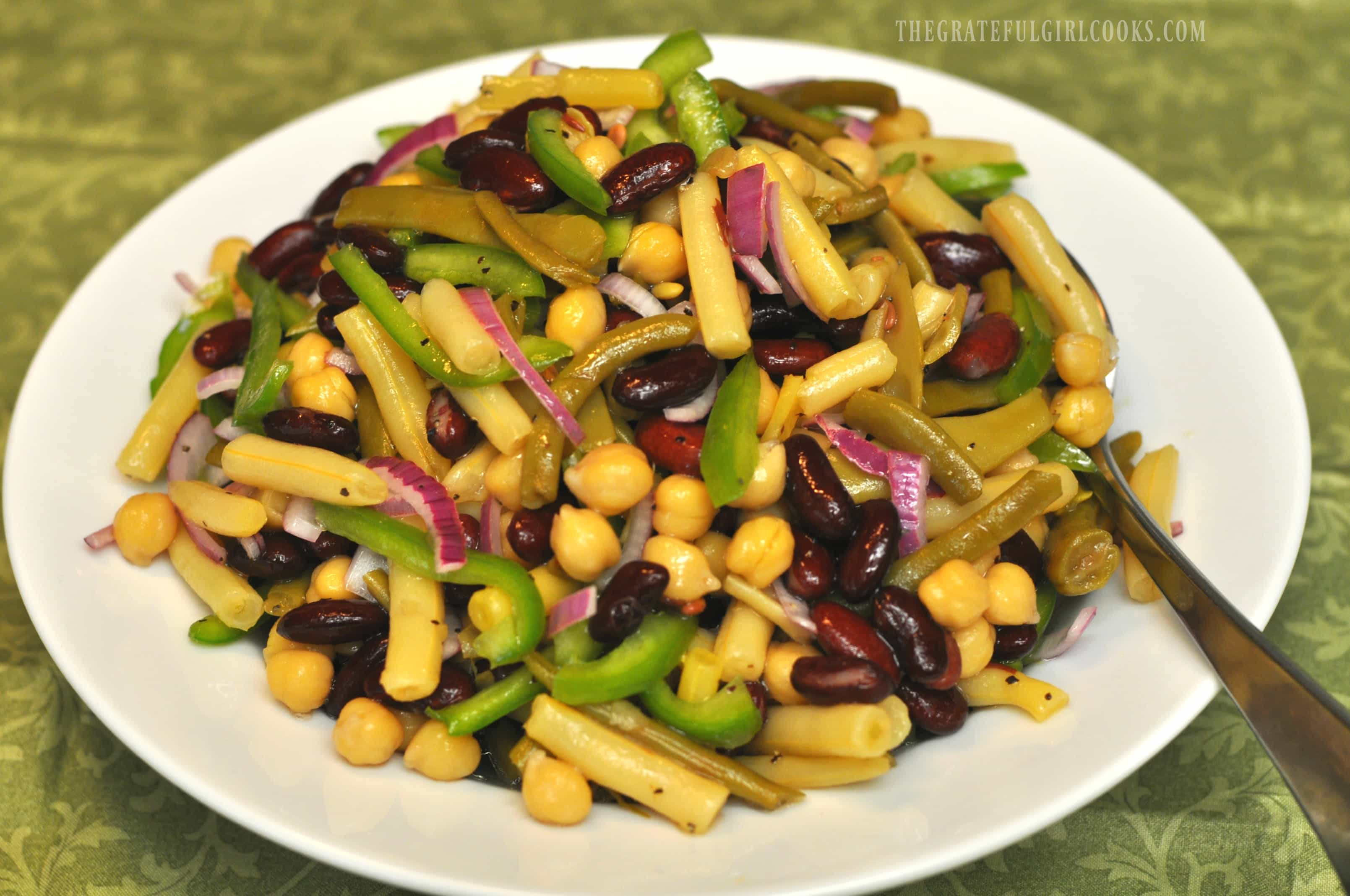 Nanci's 4-Bean Salad / The Grateful Girl Cooks!