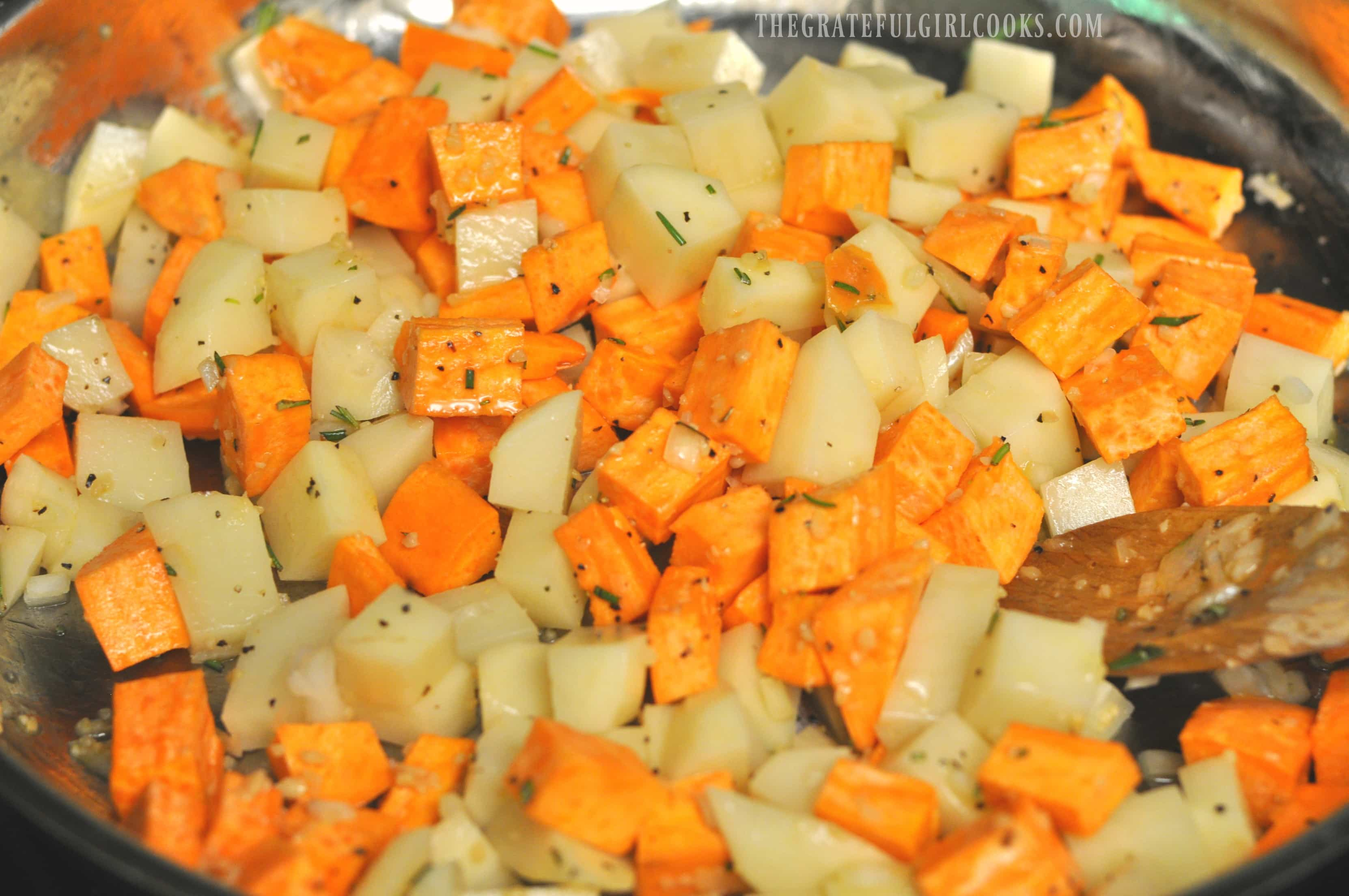 Potato Hash with Rosemary / The Grateful Girl Cooks!