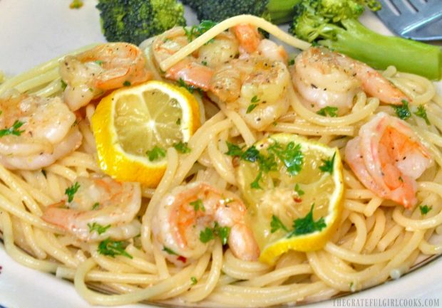 Shrimp Scampi / The Grateful Girl Cooks! Easy and delicious... this meal is ready in under 30 minutes!