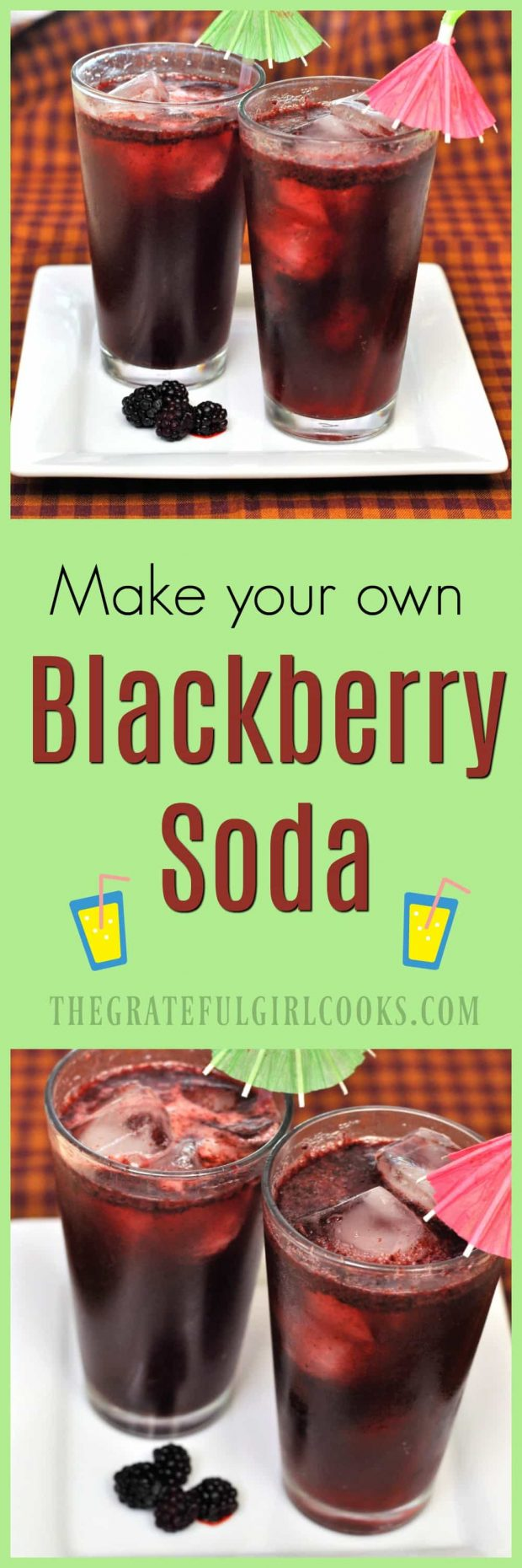Blackberry Soda / The Grateful Girl Cooks! It's EASY to make your own, using a few simple ingredients!