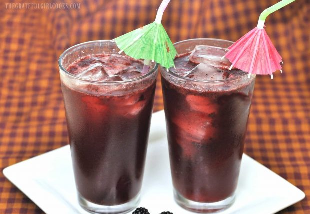 Blackberry Soda / The Grateful Girl Cooks!