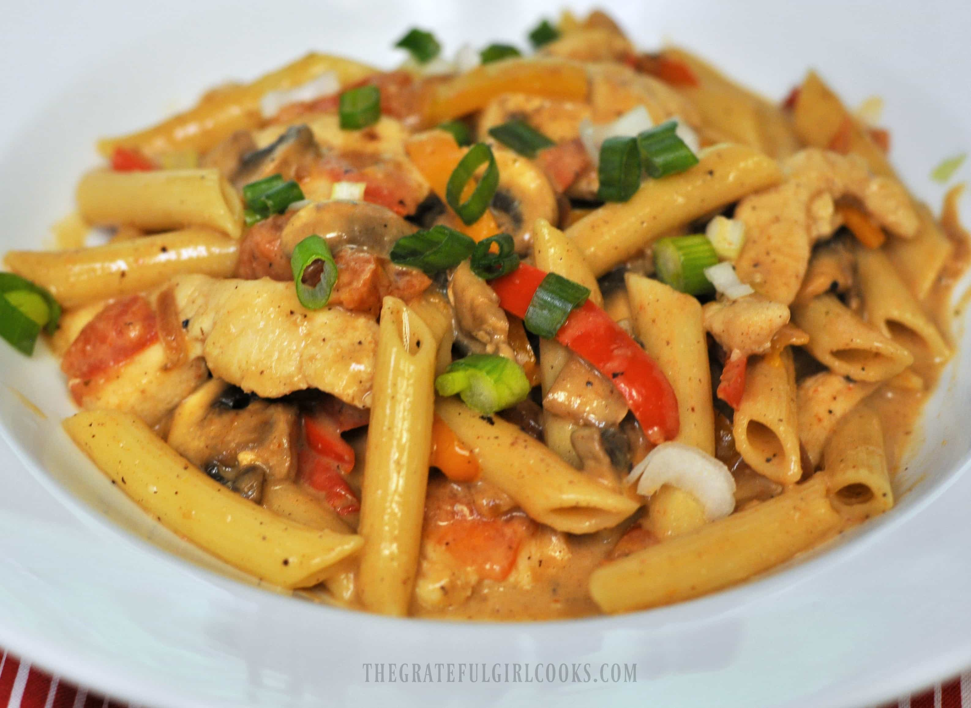 Cajun Chicken Pasta / The Grateful Girl Cooks!