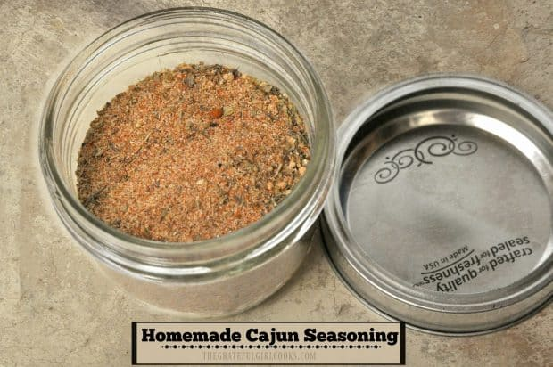 Make your own homemade Cajun seasoning mix in the comfort of your own kitchen and save some money, PLUS it's ready in under 5 minutes!