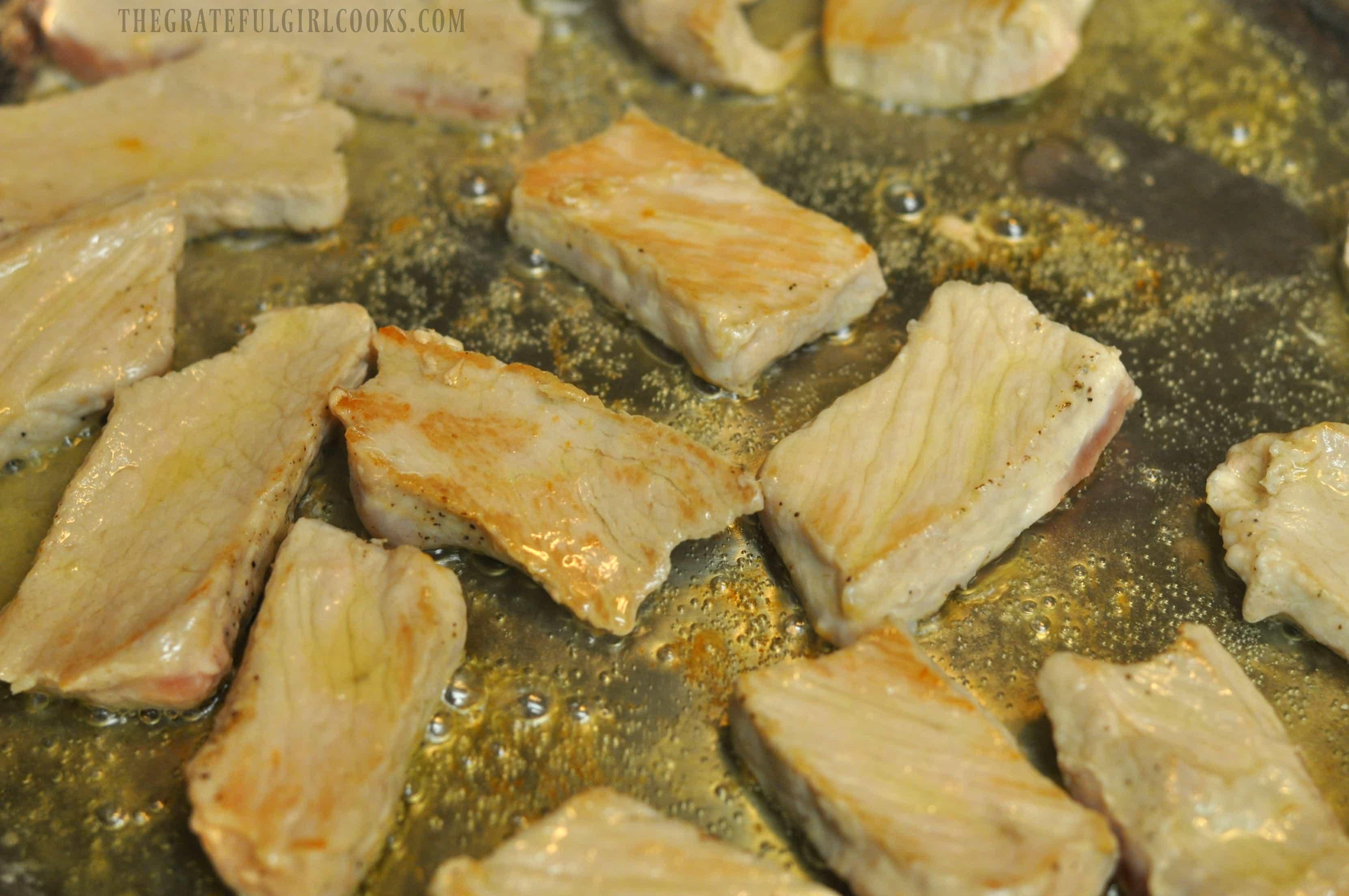 Pork Medallions in Mushroom Marsala Sauce / The Grateful Girl Cooks!