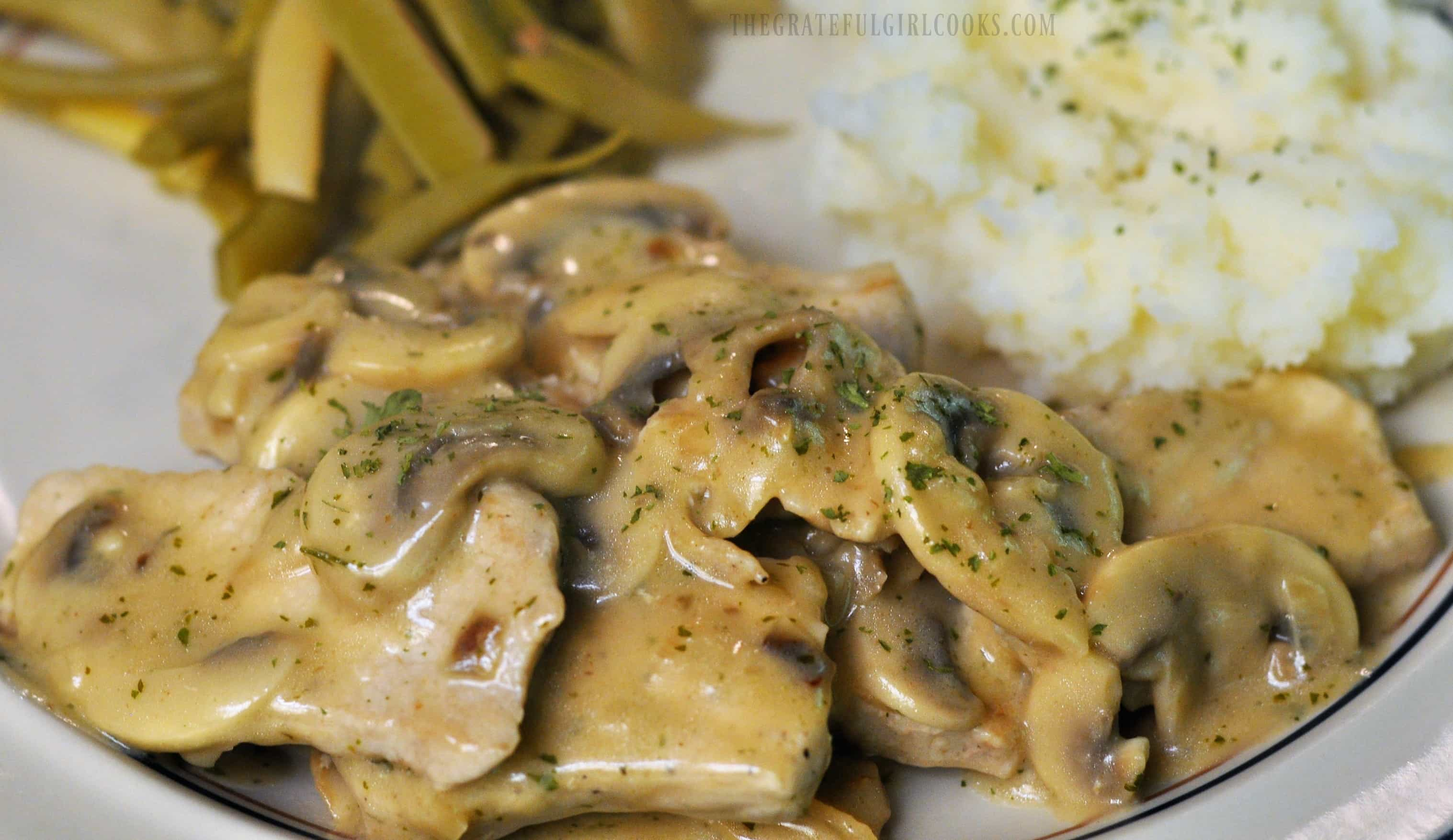 Pork Medallions in Mushroom Marsala Sauce / The Grateful Girl Cooks!