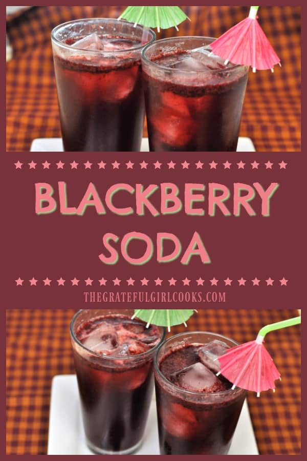 You will be surprised how EASY it is to make homemade, fresh blackberry soda, a refreshing summer beverage, using only a few simple ingredients!