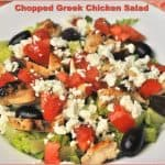 Chopped Greek Chicken Salad
