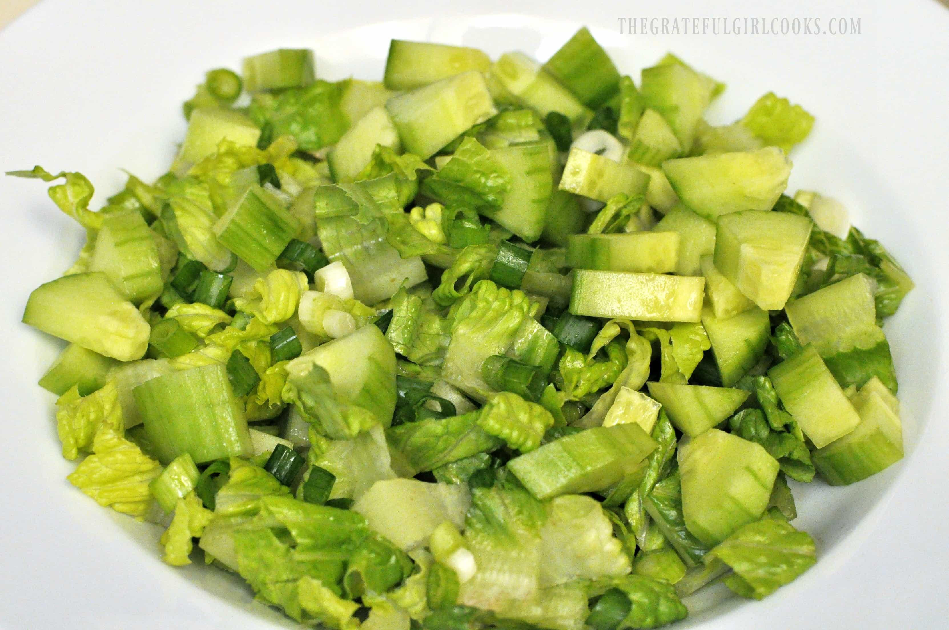Chopped Greek Chicken Salad / The Grateful Girl Cooks!