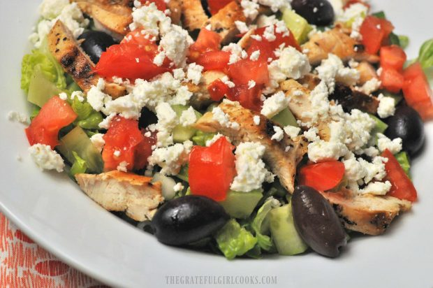 Chopped Greek Chicken Salad / The Grateful Girl Cooks!