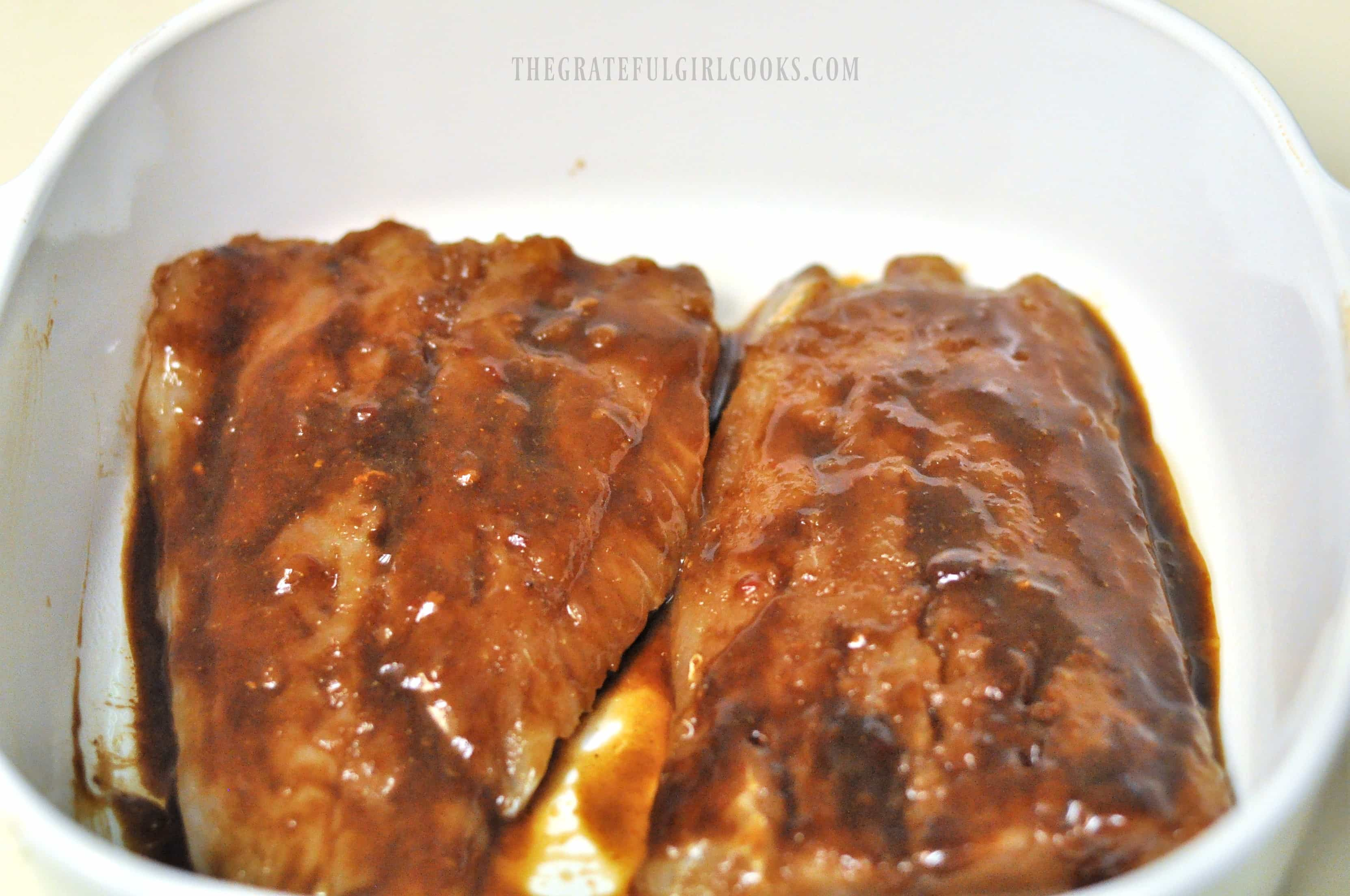 Cod with Hoisin Glaze / The Grateful Girl Cooks!