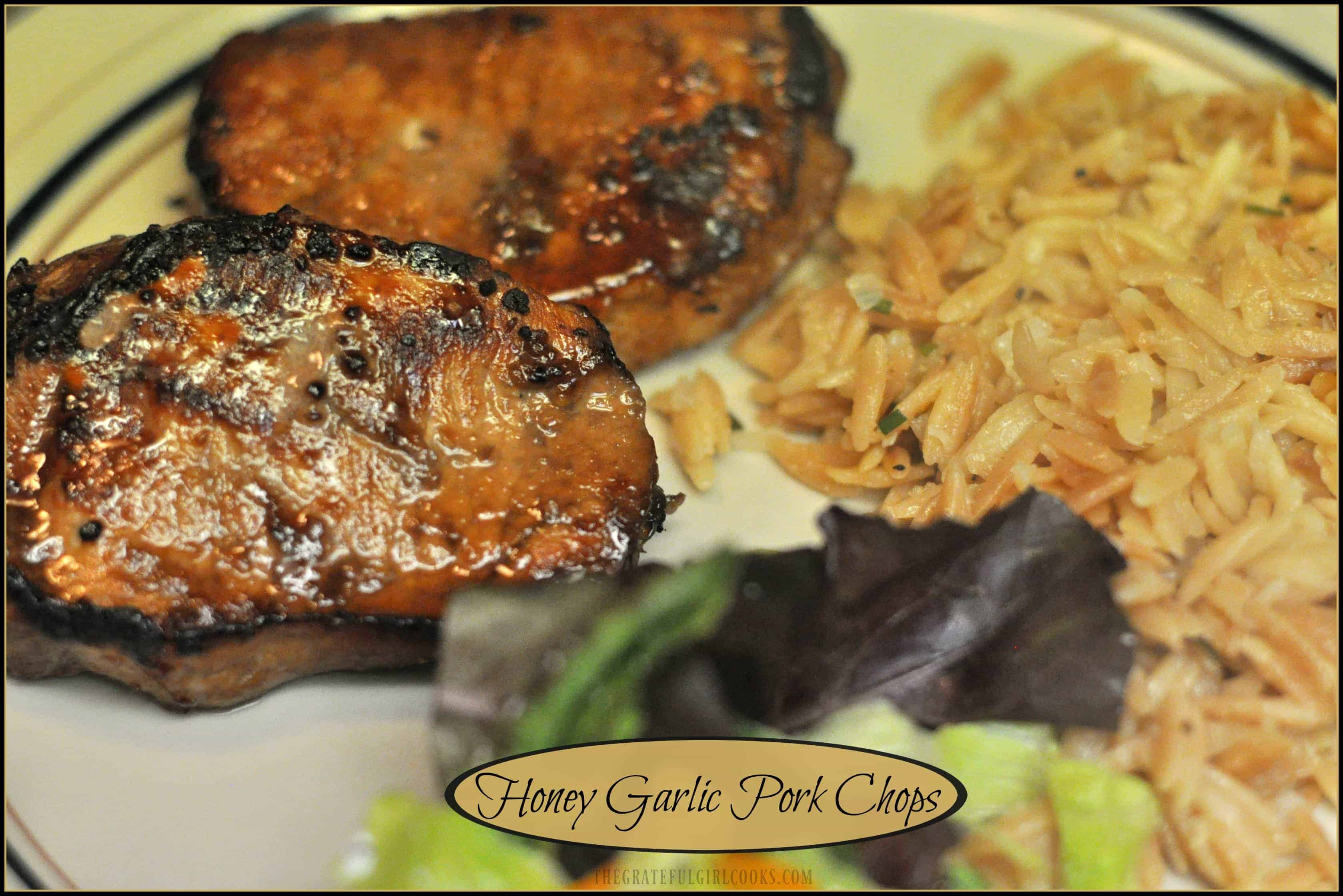 Honey Garlic Pork Chops / The Grateful Girl Cooks!