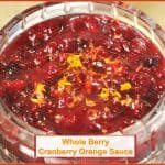 Whole Berry Cranberry Orange Sauce