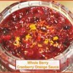 Whole Berry Cranberry Orange Sauce