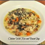 Chicken Wild Rice and Bacon Soup
