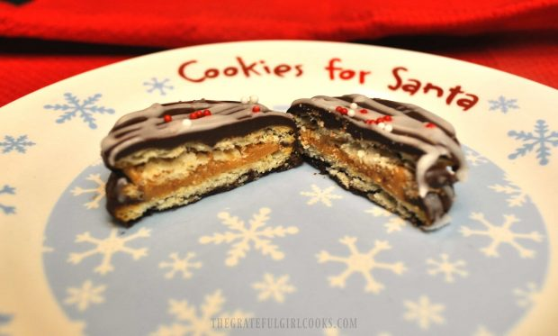 Chocolate Covered Peanut Butter Ritz Cookies / The Grateful Girl Cooks!