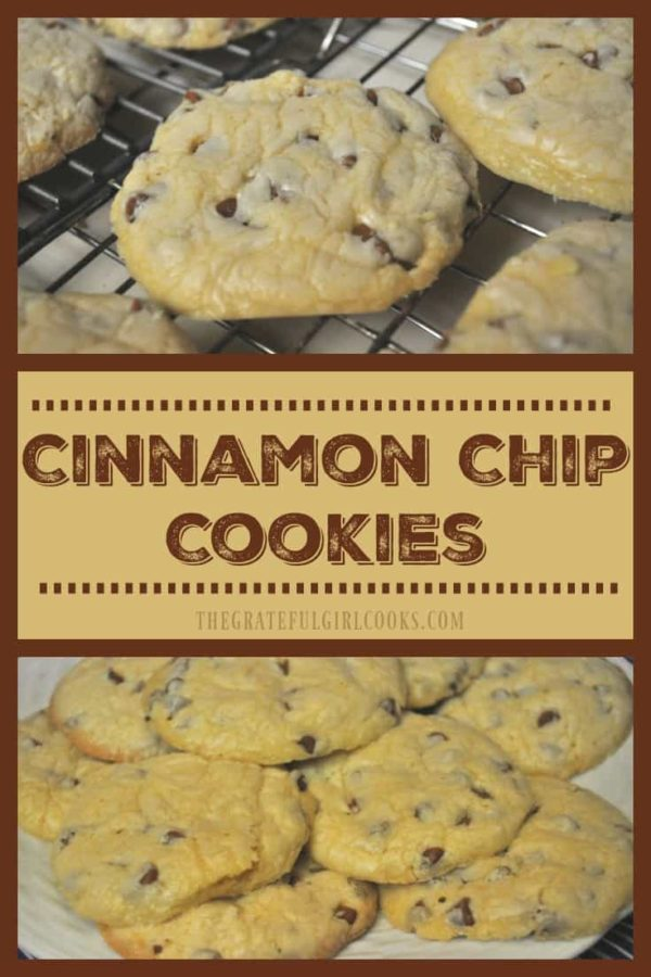 Buttery, soft, and filled with the flavor of cinnamon, these yummy Cinnamon Chip Cookies are so incredibly easy to make, you won't believe it!