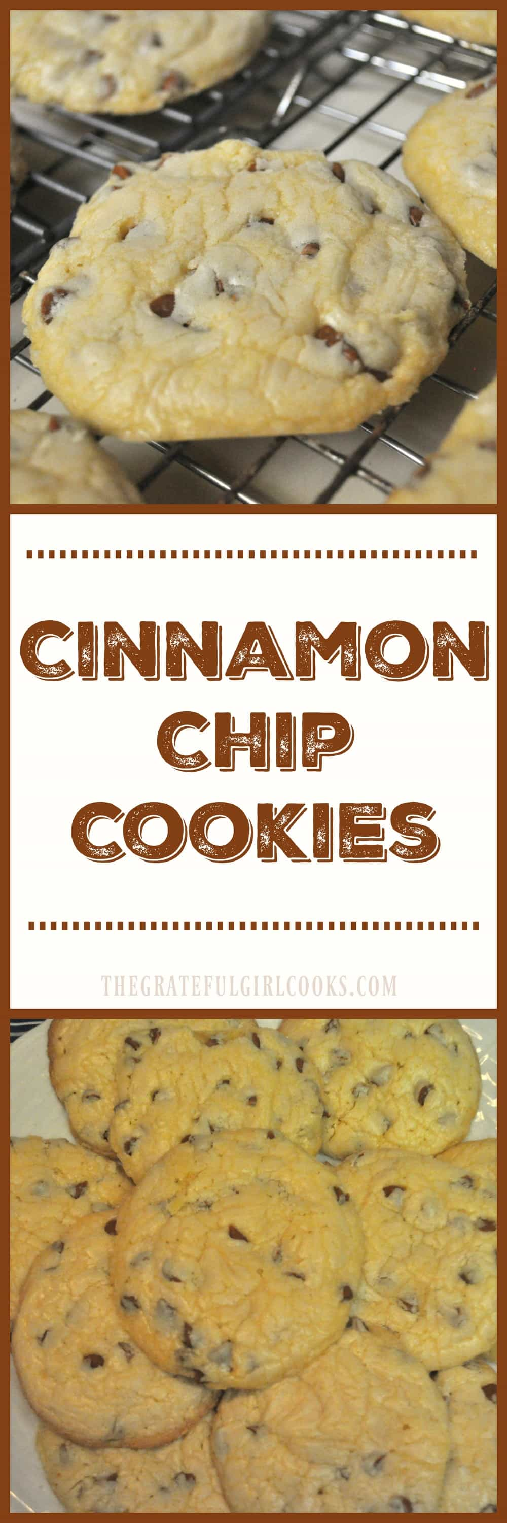 Cinnamon Chip Cookies / The Grateful Girl Cooks! Super easy to make, delicious cinnamon-y cookies!