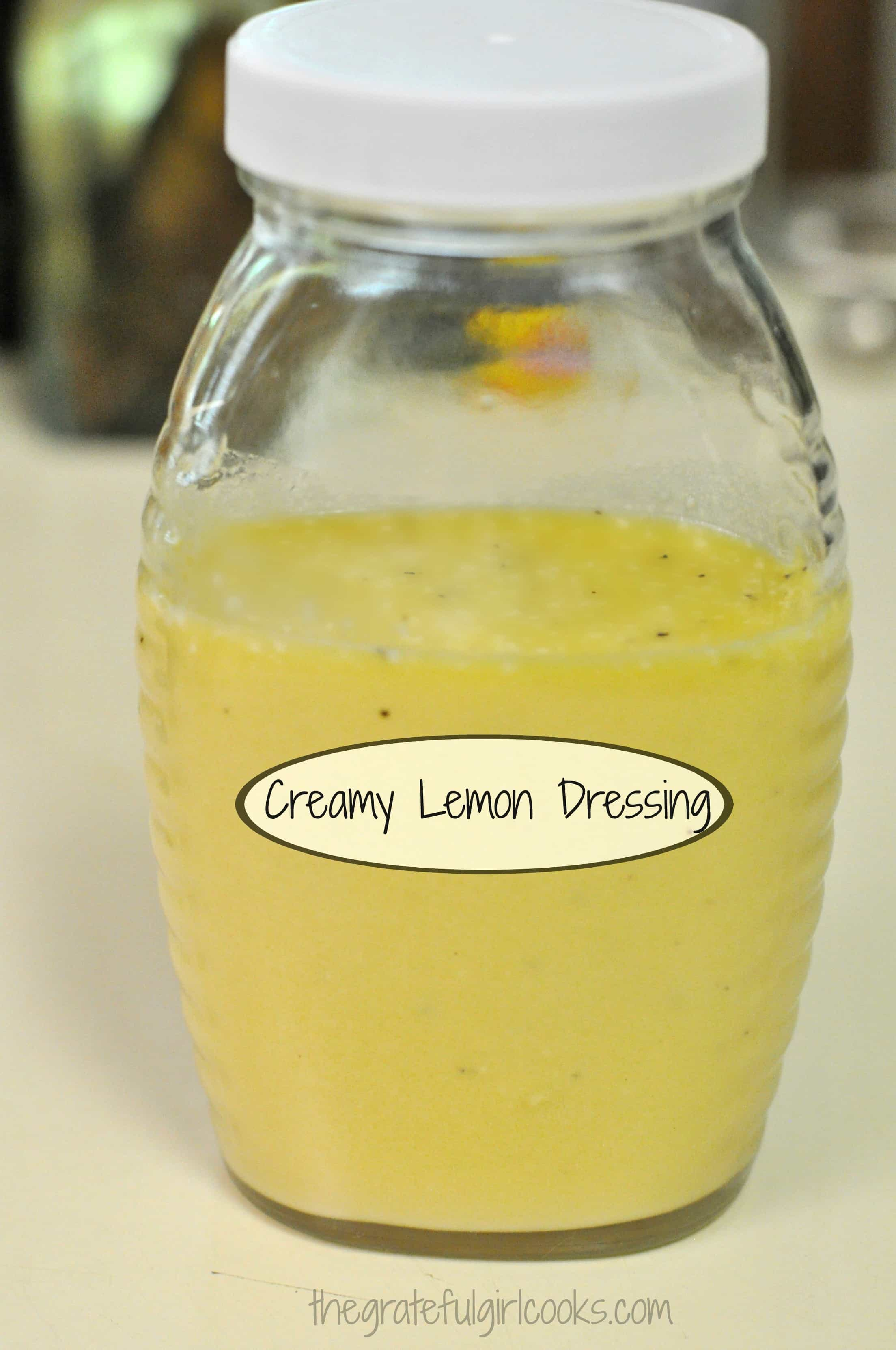 Creamy Lemon Salad Dressing / The Grateful Girl Cooks!