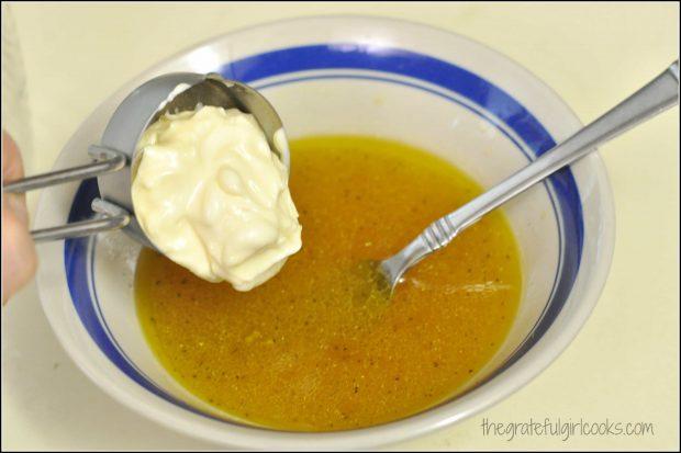 Creamy Lemon Salad Dressing / The Grateful Girl Cooks!