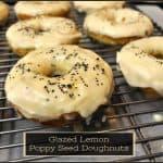 Glazed Lemon Poppy Seed Doughnuts