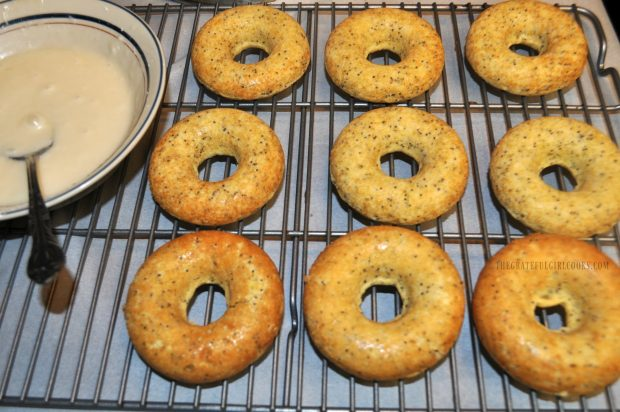 Glazed Lemon Poppy Seed Doughnuts / The Grateful Girl Cooks!