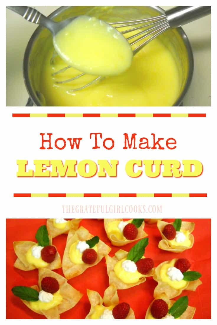 Easy tutorial on how to make your own Lemon Curd from scratch! Perfect topping or filling for desserts, pancakes, waffles, etc.