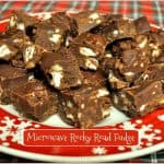 Microwave Rocky Road Fudge