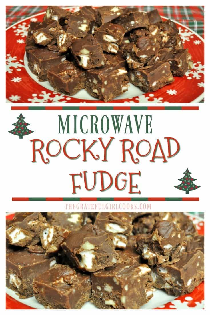 Microwave Rocky Road Fudge