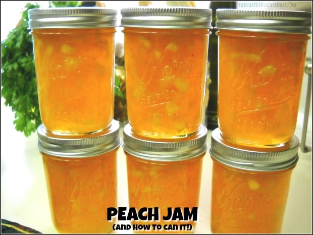 Homemade peach jam is a reminder of summer time at it's BEST! Learn how to make this classic jam, and can it for long term storage!
