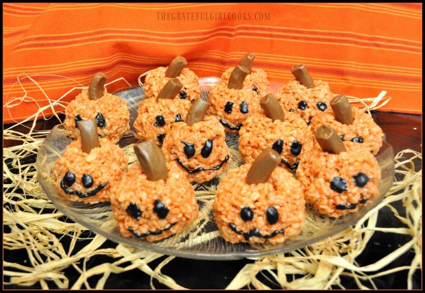 Rice krispie pumpkins, ready to eat!