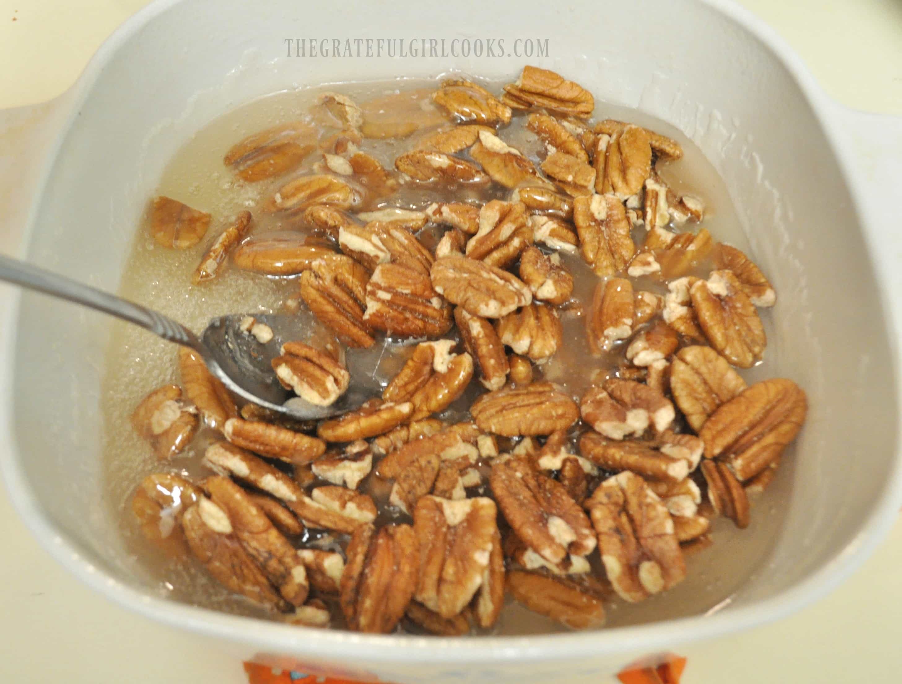 Microwave Pecan Brittle / The Grateful Girl Cooks!