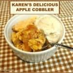 Karen's Delicious Apple Cobbler