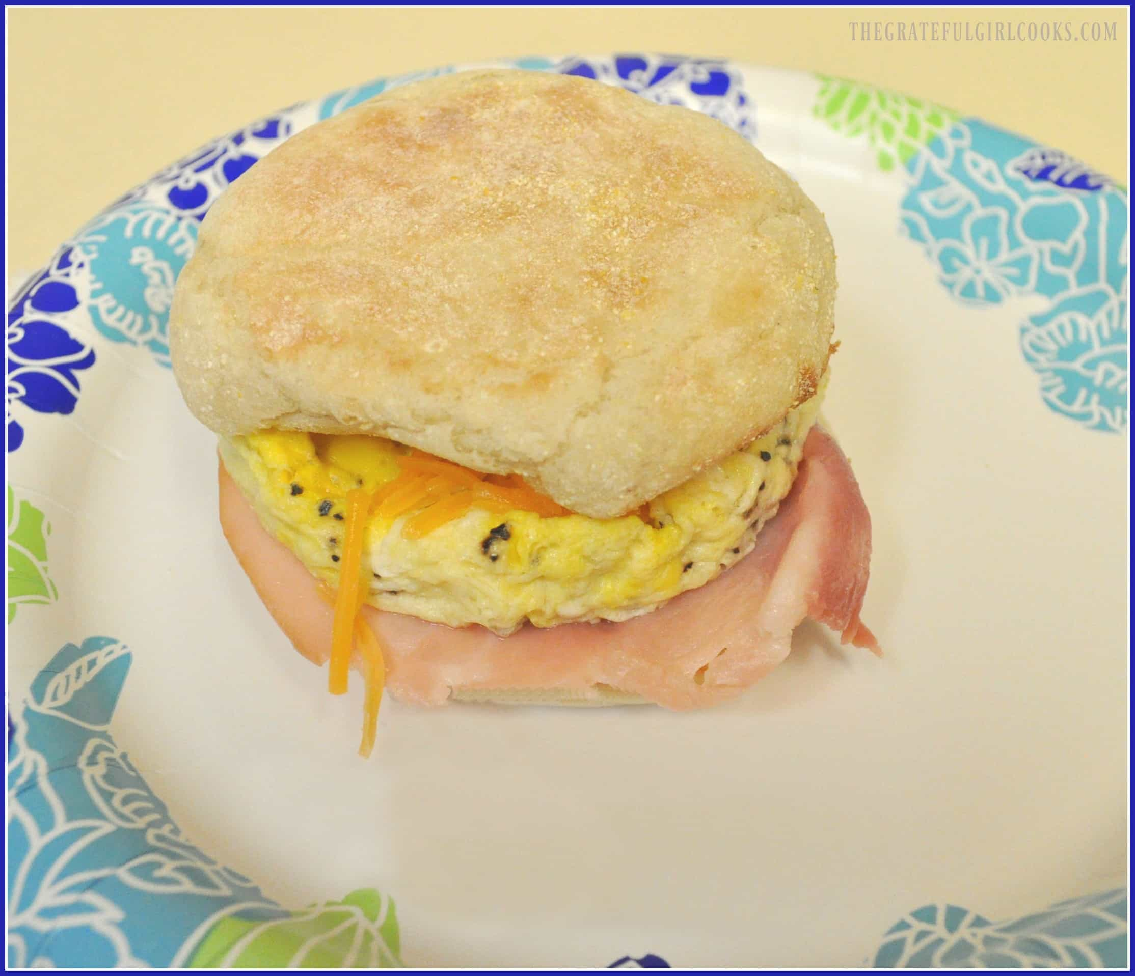 Microwave Egg Breakfast Sandwich / The Grateful Girl Cooks!