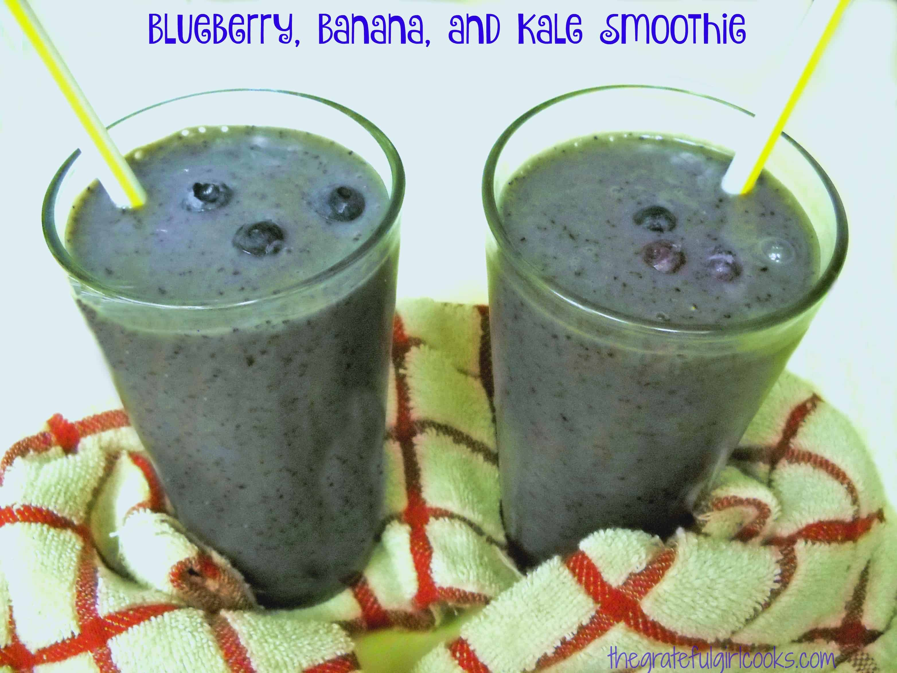 You might also enjoy this Blueberry, Banana, and Kale Smoothie / The Grateful Girl Cooks!