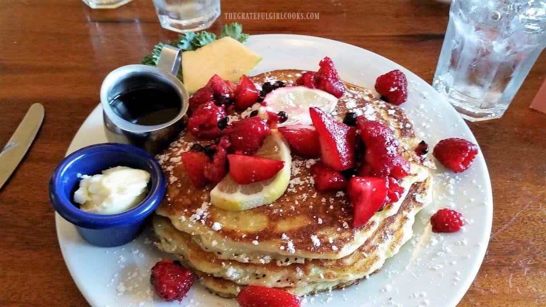 Lemon Ricotta Pancakes at The McKay Cottage / The Grateful Girl Cooks!